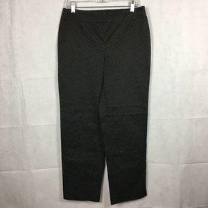 Talbots Polka Black Dot Heritage Slim Pant Sz 8
